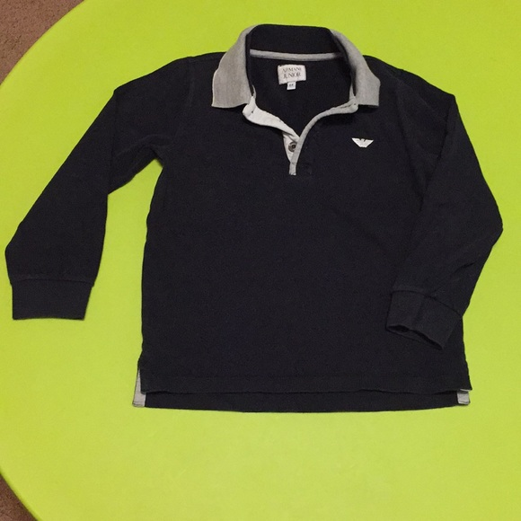 bf91e8ae8 Armani Junior Shirts & Tops | Boys Armani Long Sleeve Polo Size 6 ...